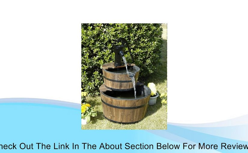 Wood Barrel with Pump Outdoor Water Fountain – Large Garden Water Fountain Product SKU: PL50001 Review